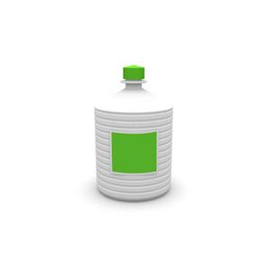White Plastic Chemical Bottle