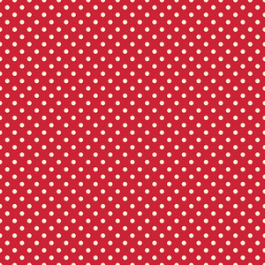 White Polka Dot Circus Pattern On A Red Background