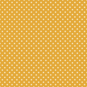 White Polka Dot Circus Pattern On A Yellow Background