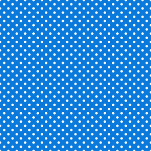 White Polka Dot Pattern On Blue Frozen Inspired Paper
