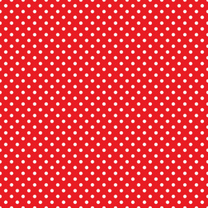 White Polka Dot Pattern On Red England Paper