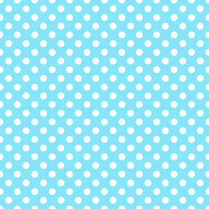 White Polka Dots Pattern On A Blue Background