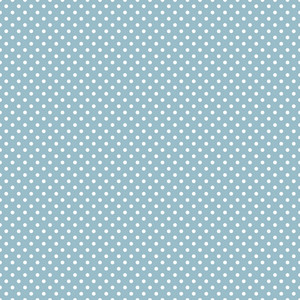 White Polka Dots Pattern On A Blue Riverboat Background
