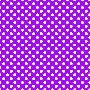 White Polka Dots Pattern On A Purple Background