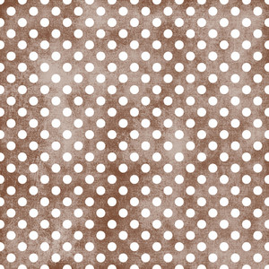 White Polka Dots Pattern On A Shabby Brown Background