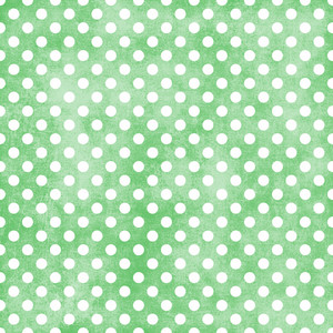 White Polka Dots Pattern On A Shabby Green Background