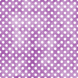 White Polka Dots Pattern On A Shabby Purple Background