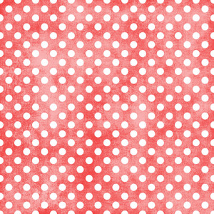 White Polka Dots Pattern On A Shabby Red Background