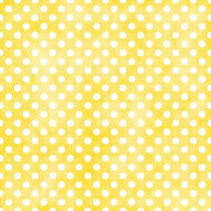 White Polka Dots Pattern On A Shabby Yellow Background