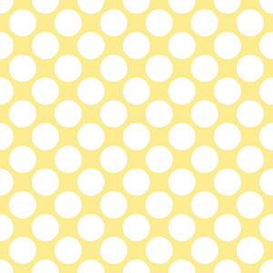 White Polka Dots Pattern On A Yellow Background