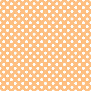 White Polka Dots Pattern On An Orange Background