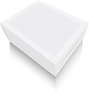 White Product Packet Illustration