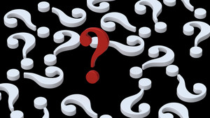 White Question Marks With Red One.