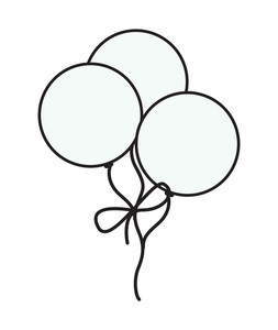 White Retro Balloons