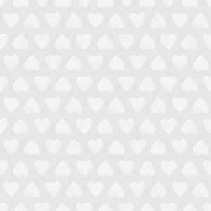 White Seamless Background With Hearts