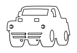 White Shape Jeep Vector