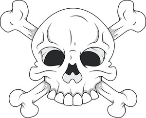 White Skull And Crossbones