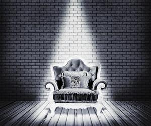 White Sofa Room Background