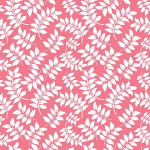 White Vines Pattern On A Romantic Pink Background