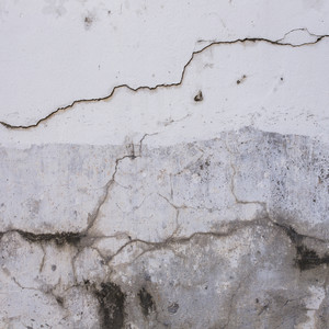 White wall Plaster cracked