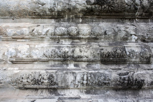 White wall texture detail in Angkor wat