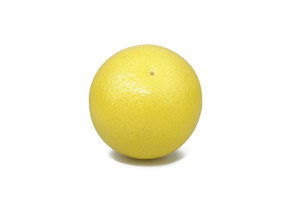 Whole Grapefruit On White Background