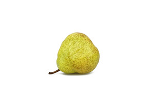 Whole Pear On White Background
