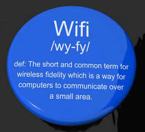 Wifi Definition Button Showing Internet Connection Zone Access