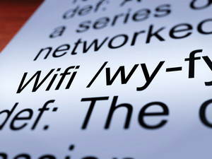 Wifi Definition Closeup Showing Internet Connection
