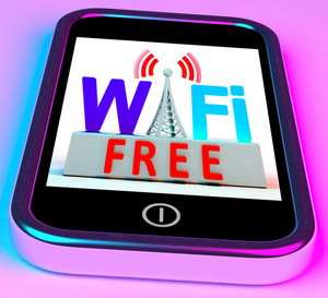 Wifi Free On Smartphone Showing Wireless Free Internet