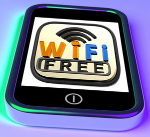 Wifi Free On Smartphone Shows Free Internet Broadcasting