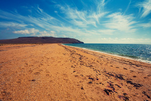 Wild desert sand beach