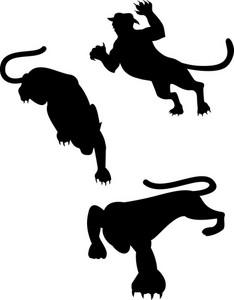 Wild Feline Silhouettes