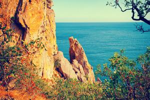 Wild rocky beach