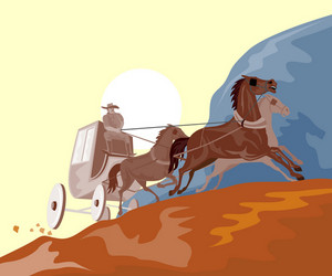 Wild West Stagecoach Retro