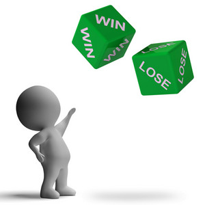 Win Lose Dice Showing Gamble