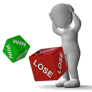 Win Lose Dice Showing Gambling