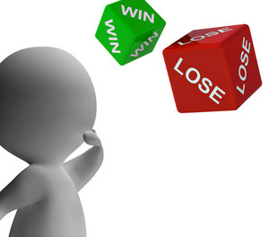 Win Lose Dice Shows Gambling