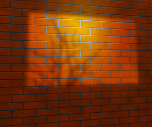 Window Light On Brick Wall Studio Background