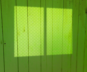 Window Light On Green Wooden Wall