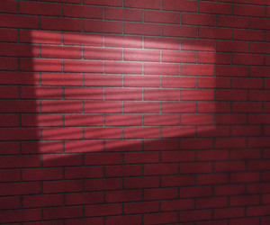 Window Light On Red Brick Wall Studio Background