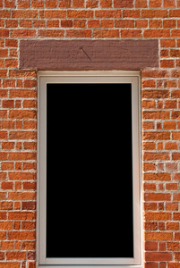Window On Brick Wall