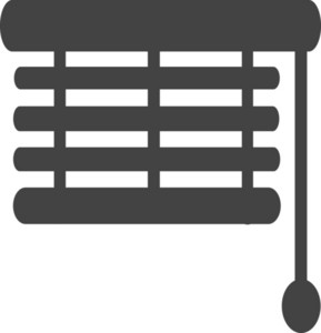 Window Shade Installer Glyph Icon