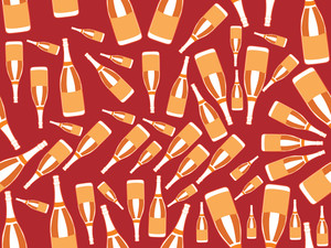 Wine Bottle Pattern Background