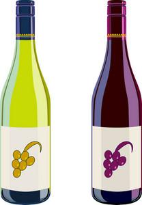 Wine Bottles Retro