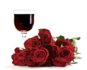 Wine Glass & Roses