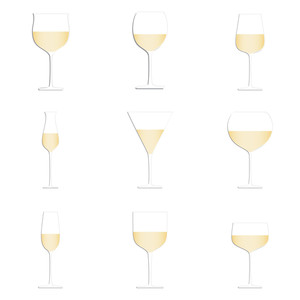 Wine Glasses White Background