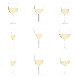 Wine Glasses White Background