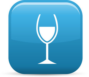 Wine Tasting Elements Glossy Icon
