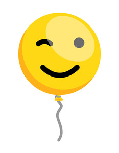 Winking Eye Smiley Balloon